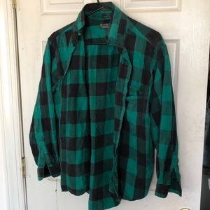 Cute green+Black vintage button->up ! !